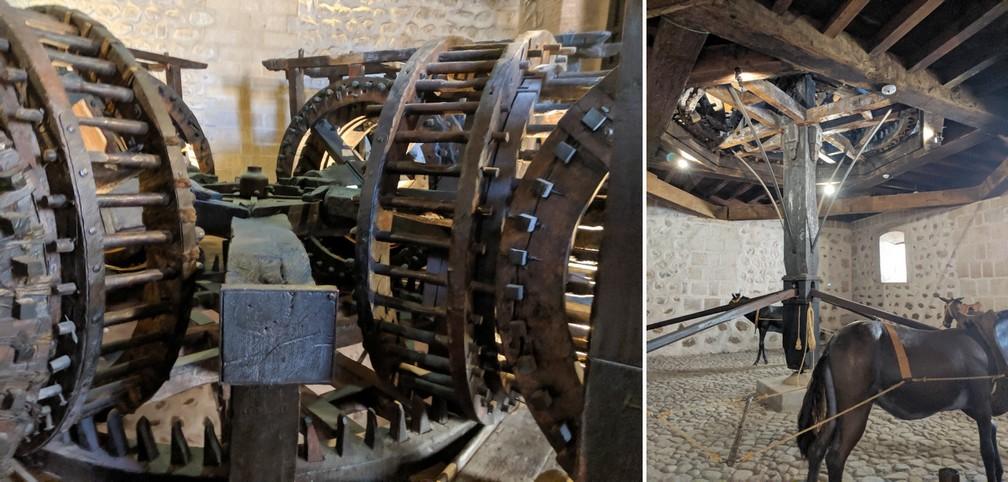 Machine à frapper des pièces entrainée par des anesà Potosi