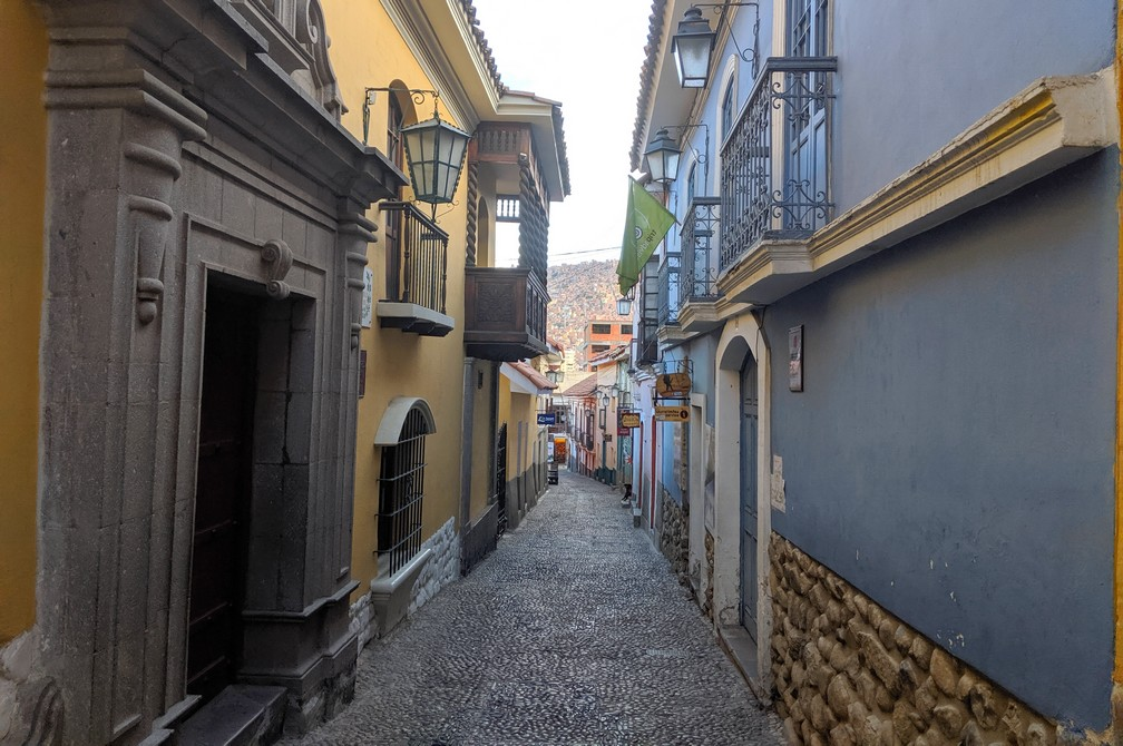Rue Jaen à La Paz