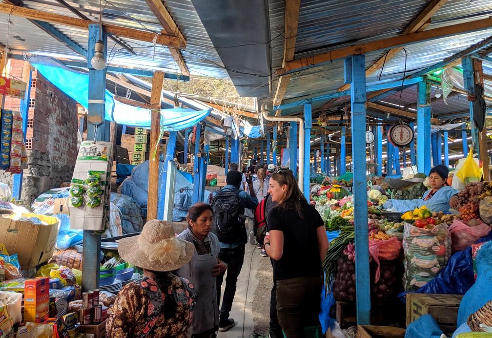Etals du mercado Rodriguez à La Paz