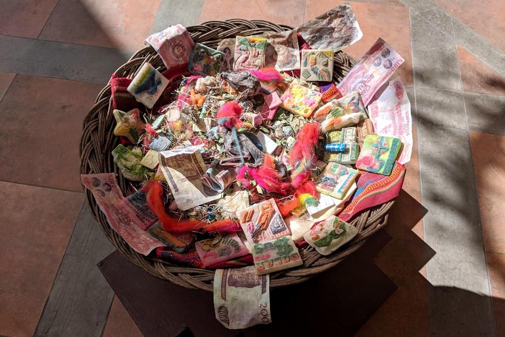 Panier à offrande du marché des sorcières à La Paz