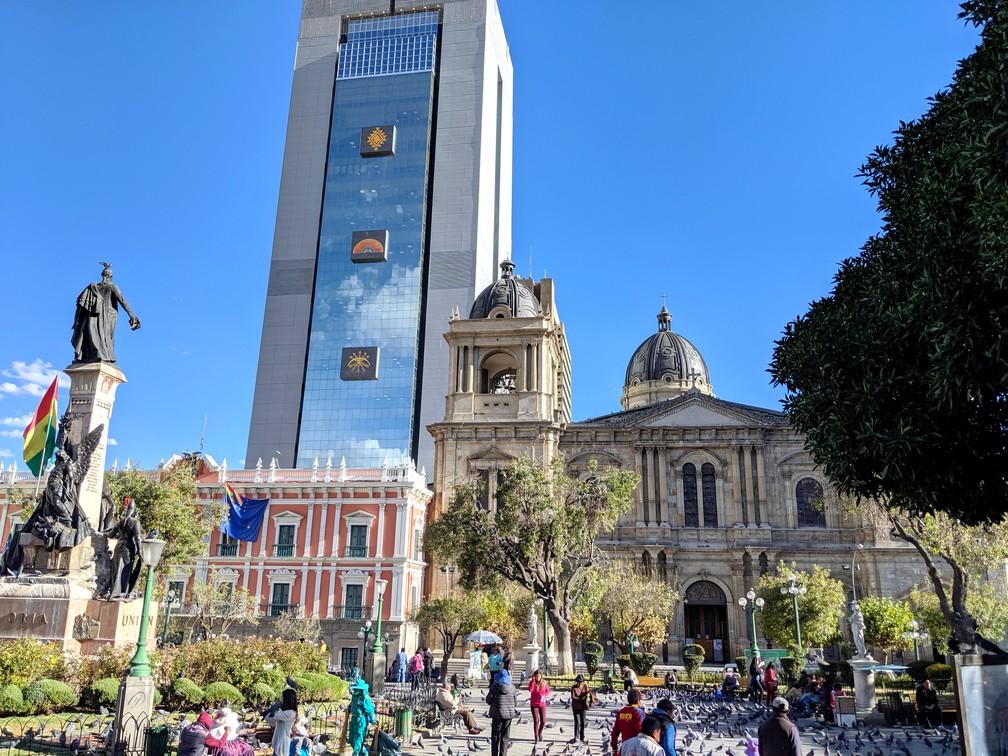 Batiment présidentiel à la Plaza Murillo de La Paz