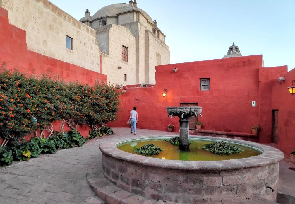 Fontaine du couvent de Santa Catalina à Arequipa