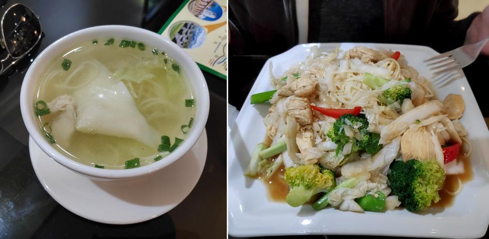 Soupe Wantan et Tallarin au poulet à la Chifa Villa Wo à Cusco