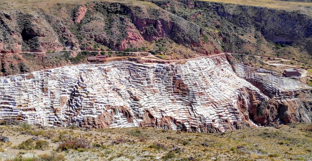 Salines de Maras vues depuis la colline d'en face