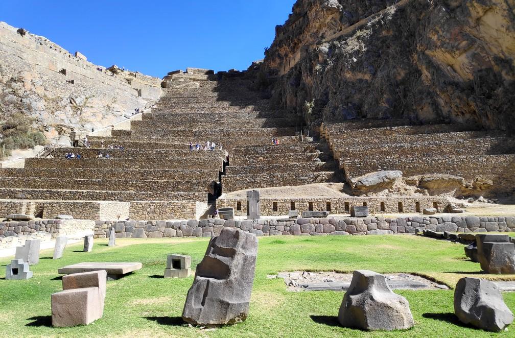 Ruines incas d'Ollantaytambo dans la vallée sacrée de Cusco au Pérou