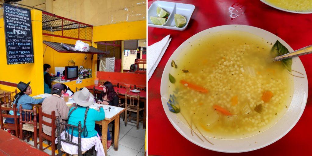 Almuerzo au Mercado de Independencia d'Huaraz