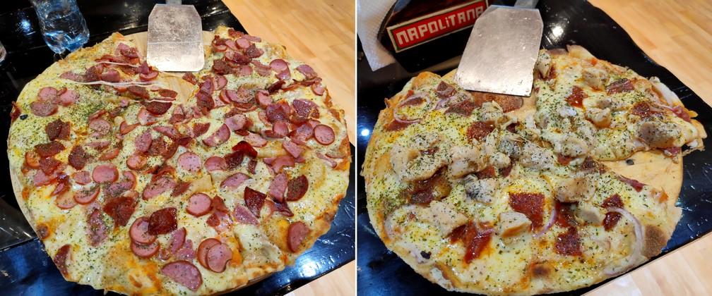 Pizzas Umbardi et Vaticano chez Napolitana Pizzeria à Cusco