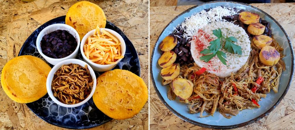 Plats Vénézuéliens chez Cumana Bistro Food à Salento