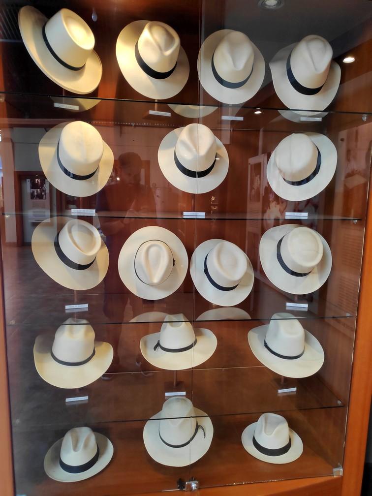 Chapeaux de Panama au musée Ortega de Cuenca