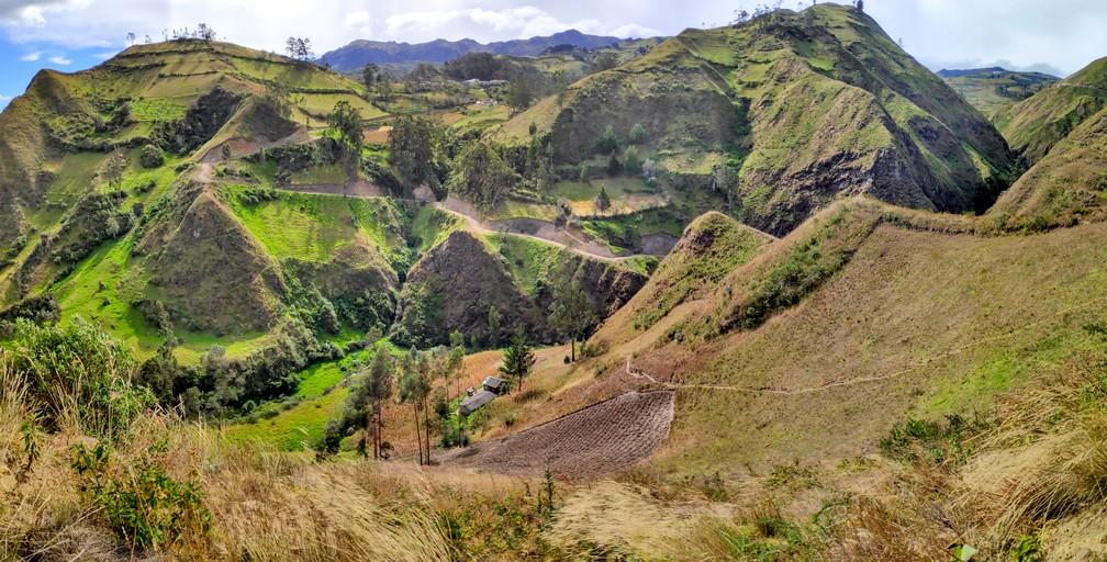 Panorama de la campagne Équatorienne entre Isinlivi et Chugchilan