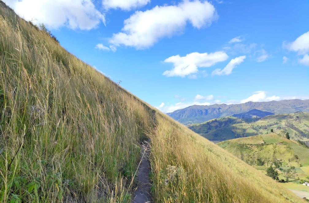 Prairie à flanc de colline sur les hauteurs de Chugchilan