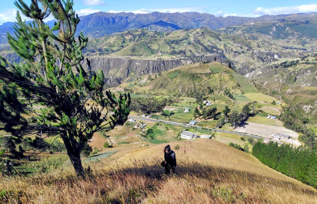 Vue sur les montagnes au dessus de Chugchilan