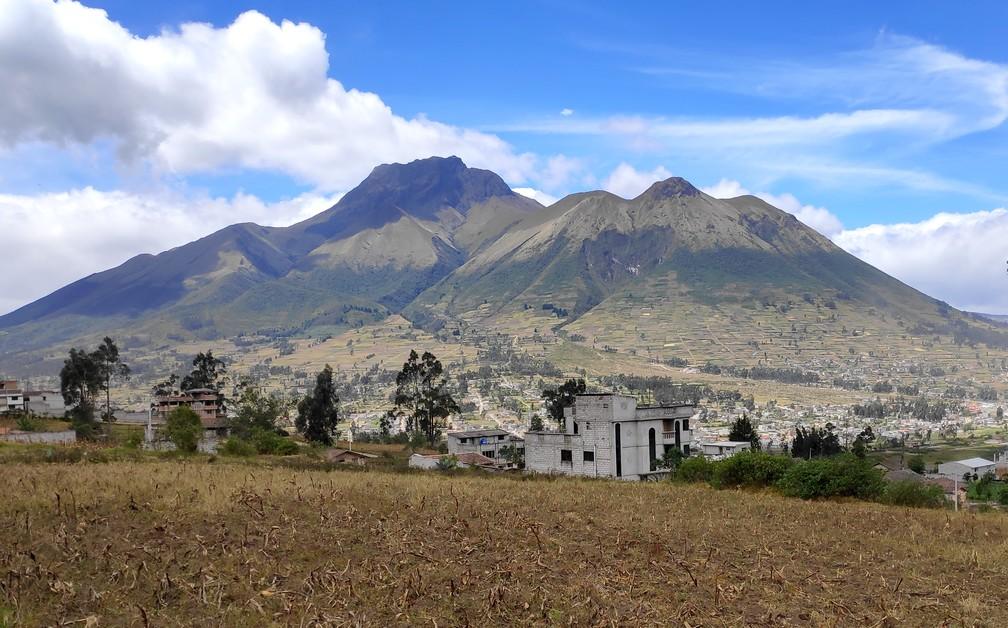 Vue sur la montagne Imbabura en Équateur