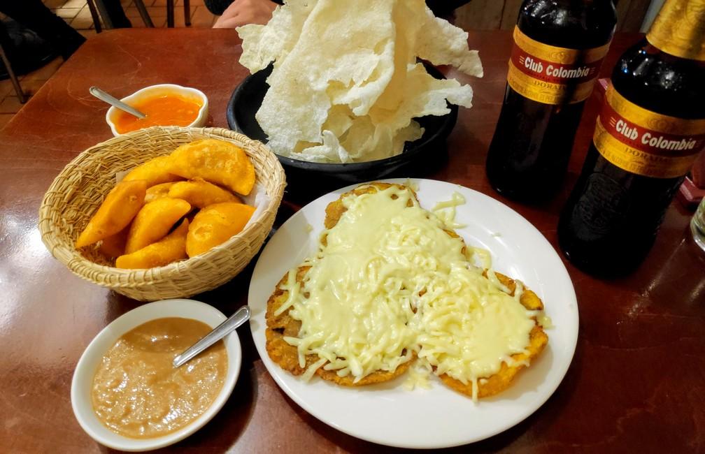 Empanaditas de pipián Carantanta con hogao Patacón con queso