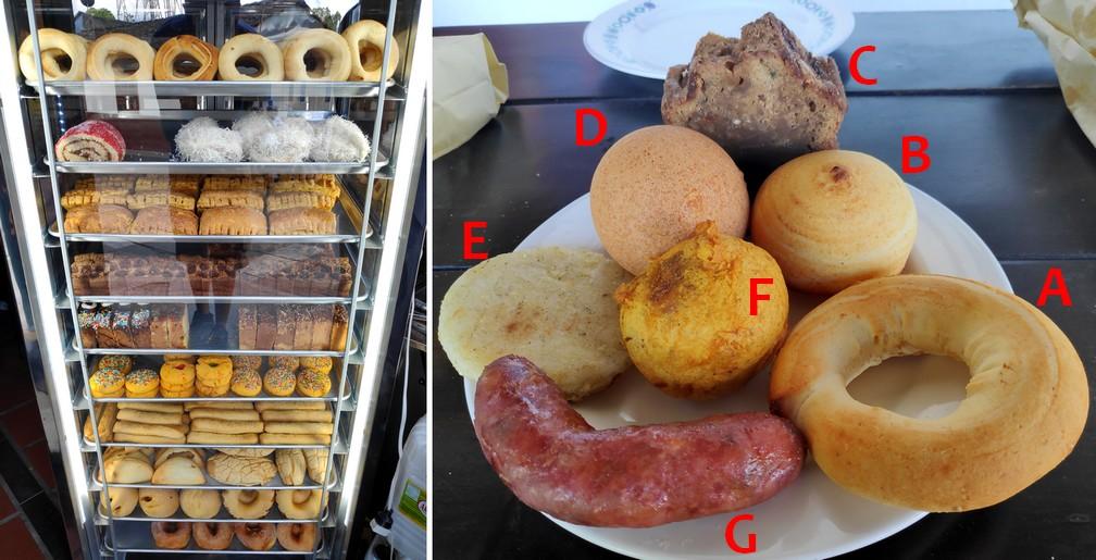 Pains et patisseries de Casa del Pan à Salento, assiette de petit déjeuner