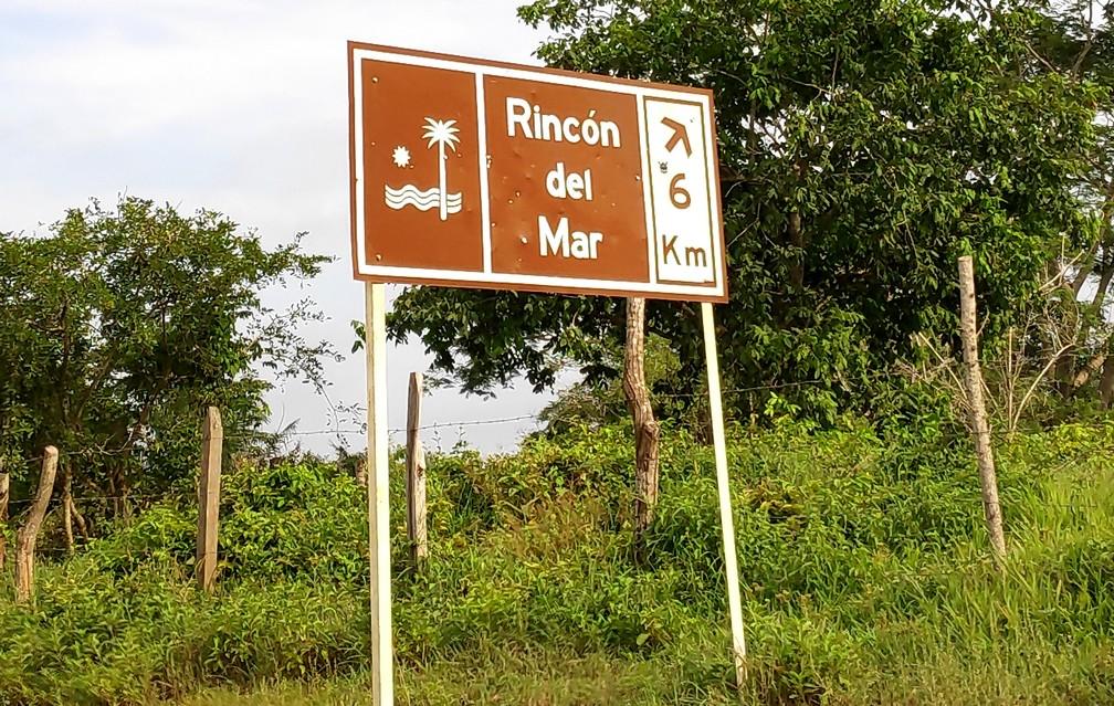 Panneau de direction pour Rincon del Mar