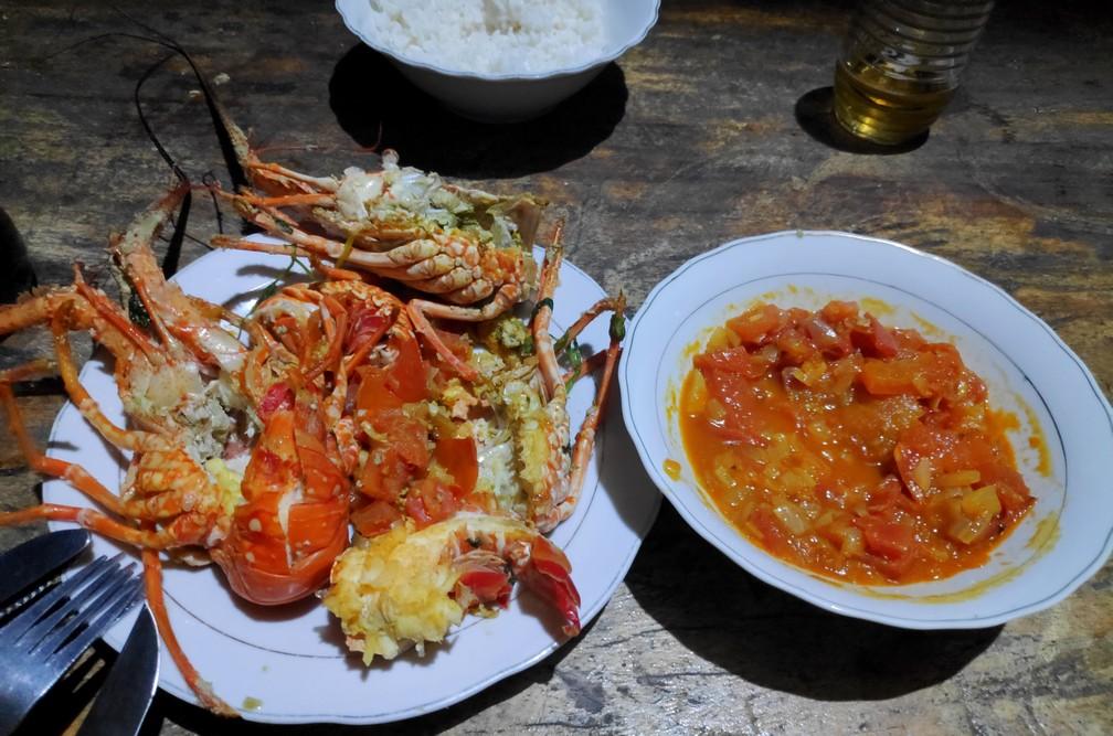 Langoustines cuisinées à Rincon del Mar