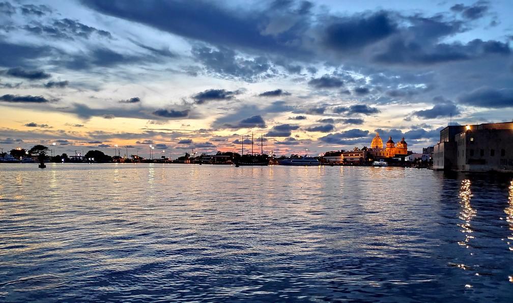 Coucher de soleil sur la baie de Carthagène