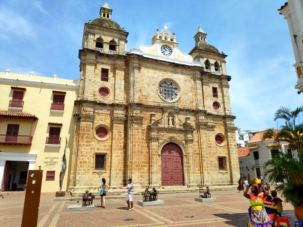 Eglise de la Plaza San Pedro de Claver à Carthagène
