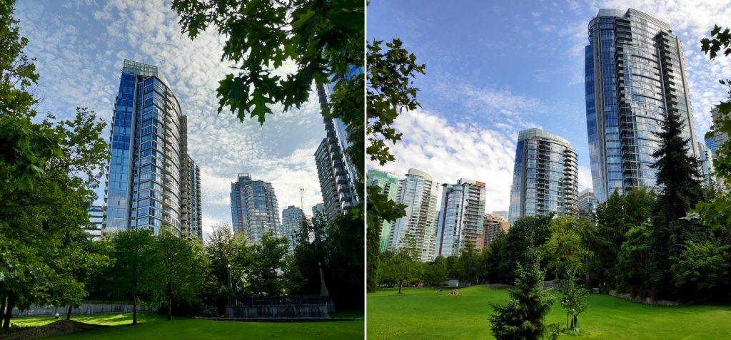 Parcs et grattes-ciel à Vancouver