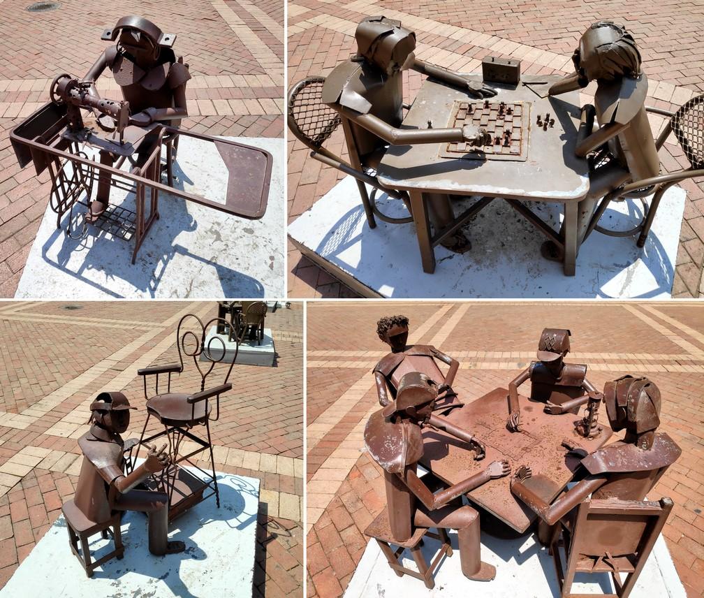Sculptures en cuivre sur la Plaza San Pedro de Claver