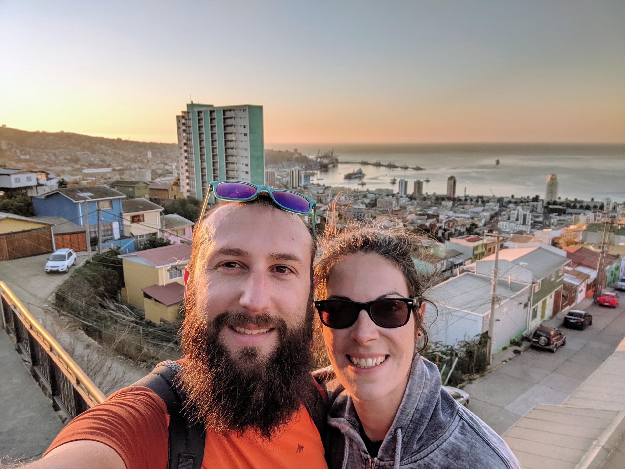 Sylvain et Salomé à Valparaiso