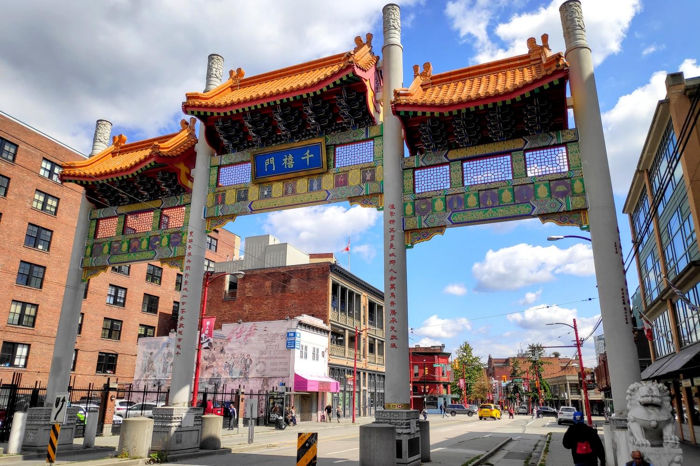 Millenium Gate de Chinatown à Vancouver