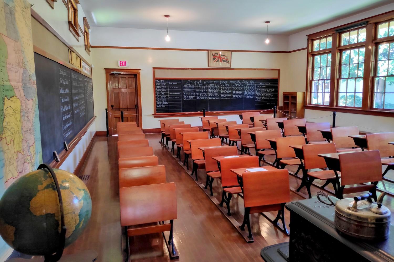 Classe d'école de Burnaby Village
