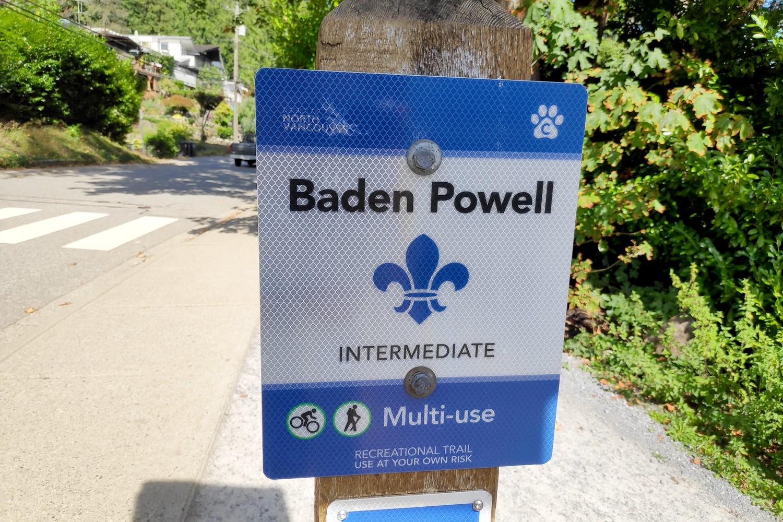 Pancarte de randonnée Chemin Baden Powell
