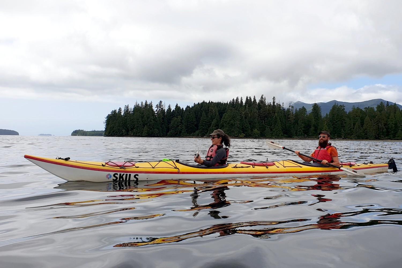Salomé et Sylvain en kayak