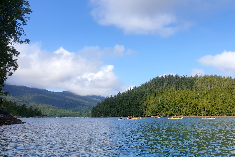 Iles près de Ucluelet avec kayaks