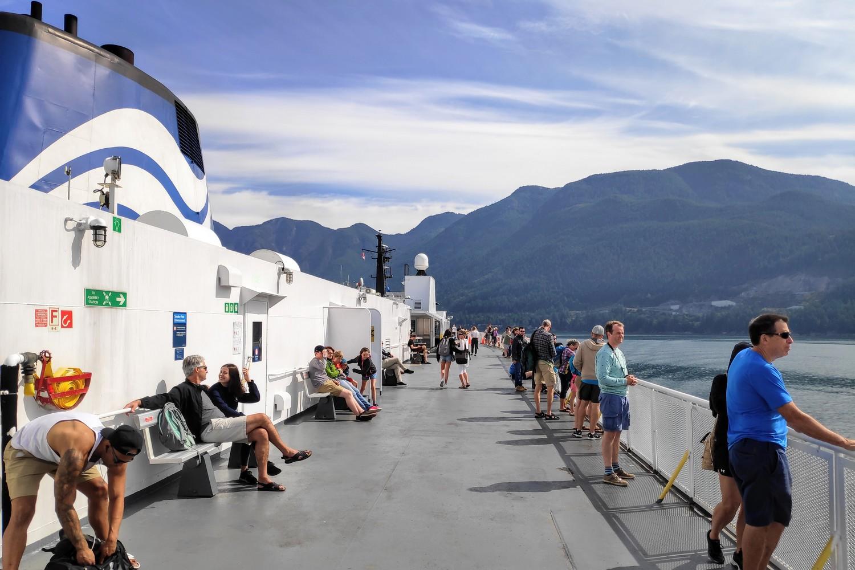 Pont du ferry pour Vancouver Island