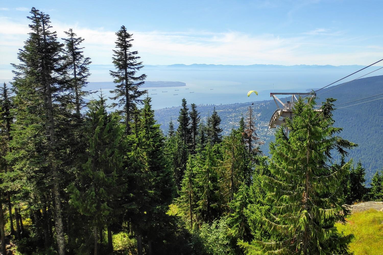 Vue depuis Grouse Grind Mountain