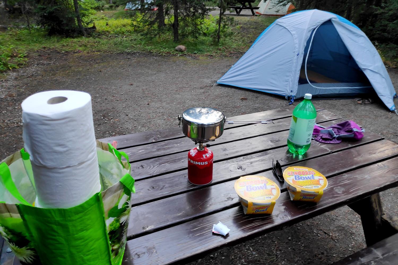 Table de camping à Lake Louise