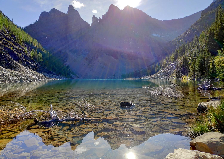 Lake Agnes dans les Rocheuses Canadiennes