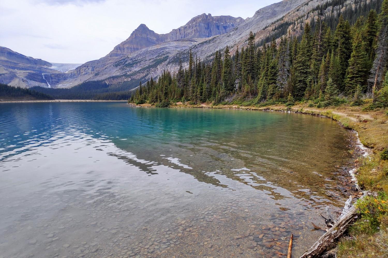 Bow Lake dans les Rocheuses Canadiennes