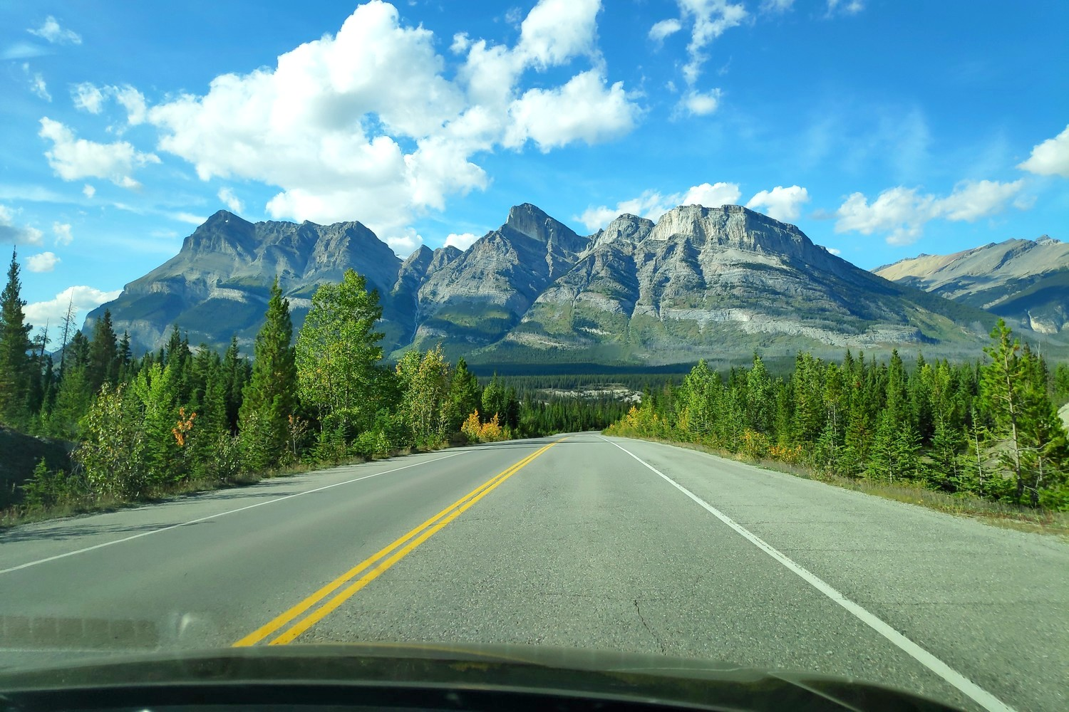 Route sur l'Icefields Parkway