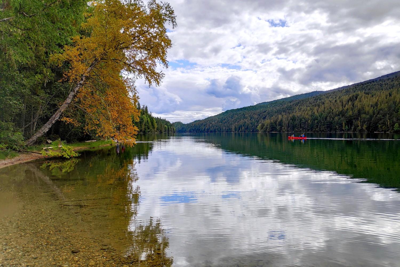 Canoë sur Clearwater Lake