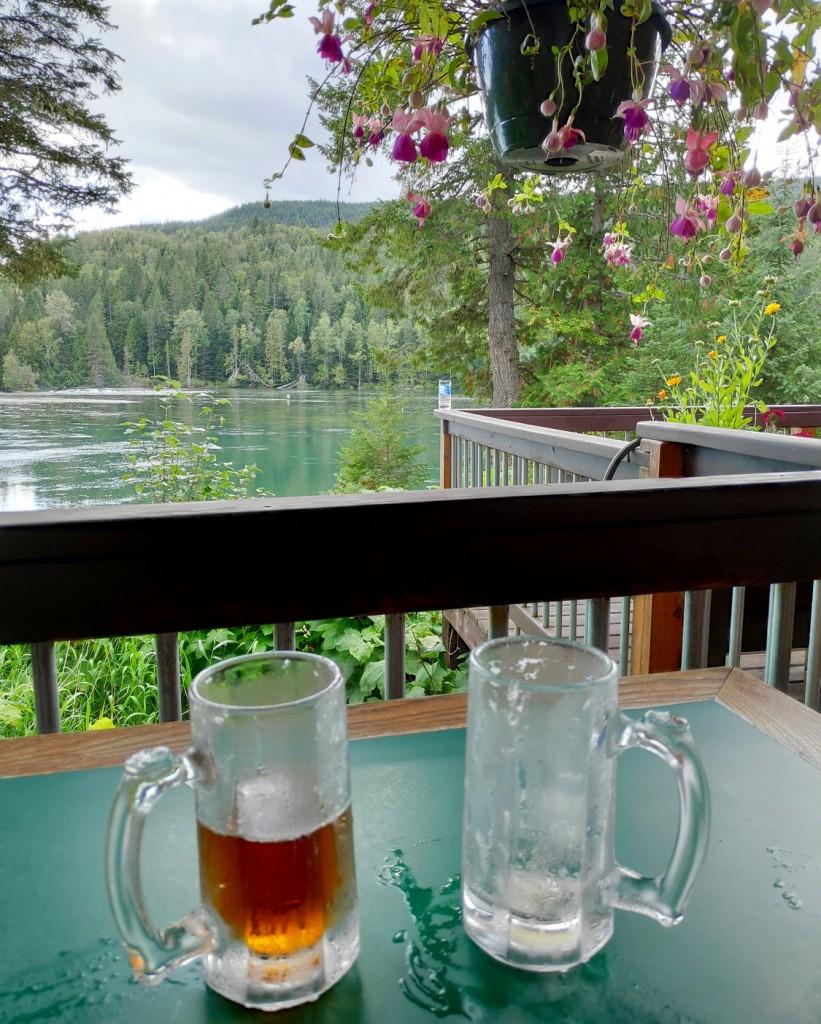 Bières au bord de Clearwater Lake